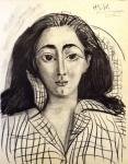 Picasso Pablo, litografie, Jacqueline
