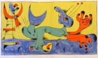Miró Joan, litografie, Circus
